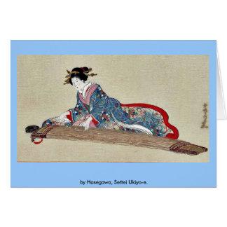 by Hasegawa Settei Ukiyo-e Greeting Card