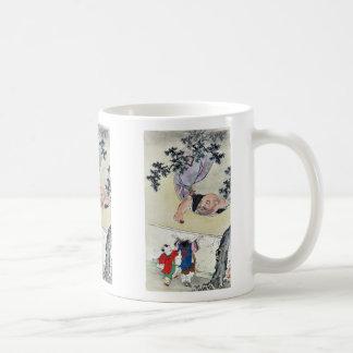 by Hasegawa, Settei Ukiyo-e. Classic White Coffee Mug