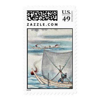 by Hasegawa Settei Ukiyo-e Stamps
