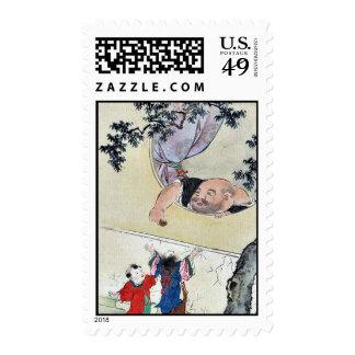 by Hasegawa Settei Ukiyo-e Stamp