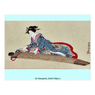 by Hasegawa Settei Ukiyo-e Postcard