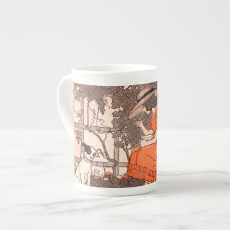 By Her Garden Wall Tea Cup