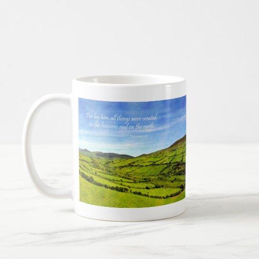 By Him all things Cork Ireland Colossians 1:16 Classic White Coffee Mug