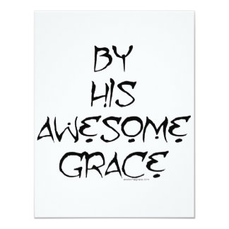 """By His Awesome Grace 4.25"""" X 5.5"""" Invitation Card"""