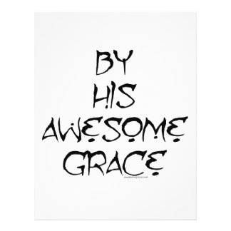 """By His Awesome Grace 8.5"""" X 11"""" Flyer"""