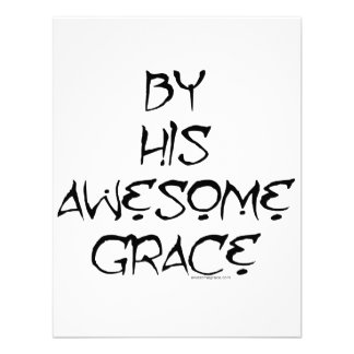 By His Awesome Grace Custom Announcement