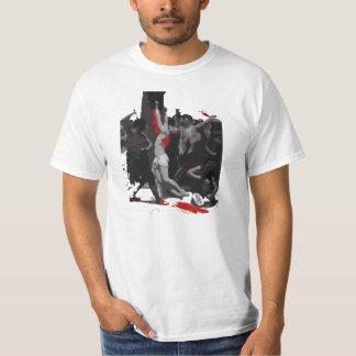 By His Stripes [black&red] T-shirt