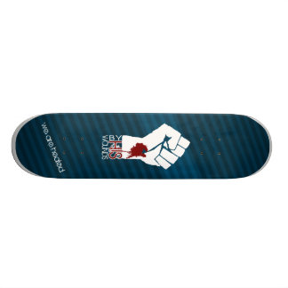 By HIS Wounds - Blue Skateboard Deck