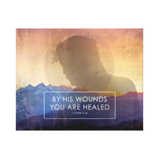 By His Wounds Canvas Print