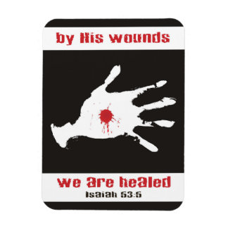 "By His Wounds We Are Healed 3""x4"" Photo Magnet"