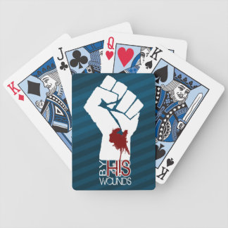 By His Wounds... we are healed Bicycle Playing Cards