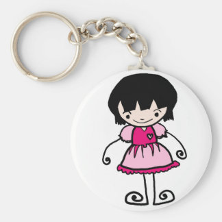 by Jaidee Family Basic Round Button Keychain