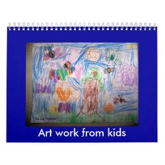 By Jas, Art work from kids Wall Calendar