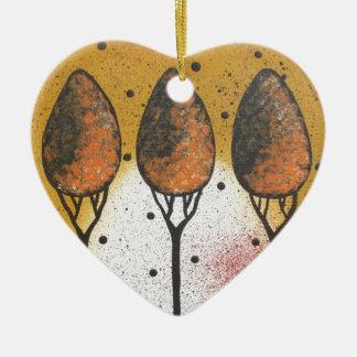 By Lori Everett_ Black Cat, Spring, Funny, Cute Ceramic Ornament