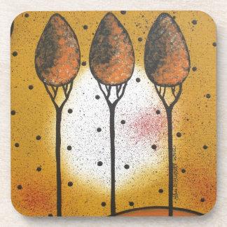 By Lori Everett_ Black Cat, Spring, Funny, Cute Drink Coaster
