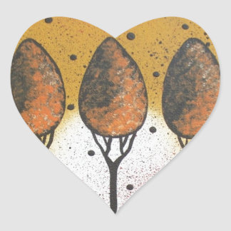 By Lori Everett_ Black Cat, Spring, Funny, Cute Heart Sticker