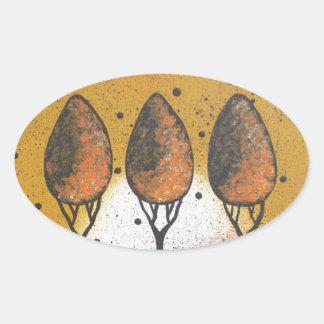By Lori Everett_ Black Cat, Spring, Funny, Cute Oval Sticker