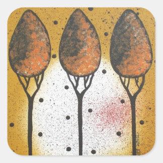 By Lori Everett_ Black Cat, Spring, Funny, Cute Square Sticker