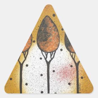 By Lori Everett_ Black Cat, Spring, Funny, Cute Triangle Sticker