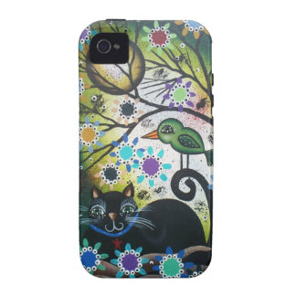 By Lori Everett_ Day Of The Dead, Black Cat, Bird Case-Mate iPhone 4 Cover