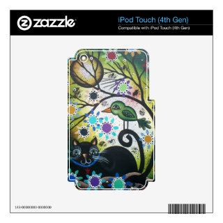 By Lori Everett_ Day Of The Dead, Black Cat, Bird Decals For iPod Touch 4G