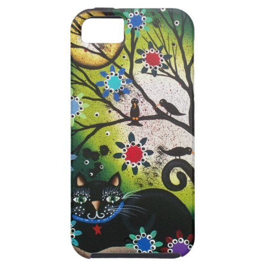 By Lori Everett_Day Of The Dead_Black Cat,Cats iPhone SE/5/5s Case