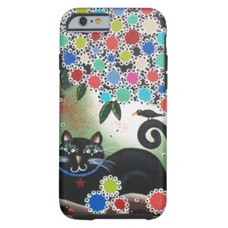 By Lori Everett_Day Of The Dead, Black Cat, Tree Tough iPhone 6 Case
