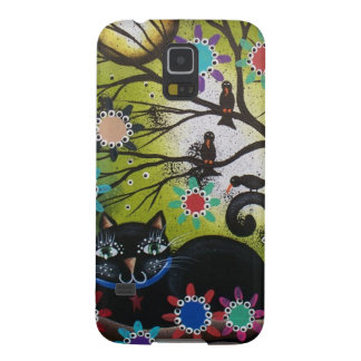 By Lori Everett_ Day Of The Dead,Mexican,Black Cat Galaxy S5 Cover