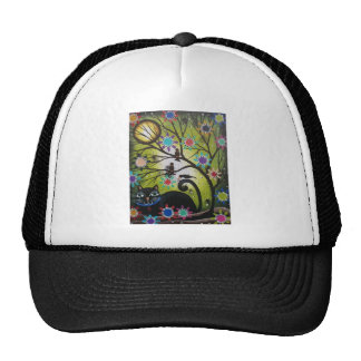 By Lori Everett_ Day Of The Dead,Mexican,Black Cat Trucker Hat