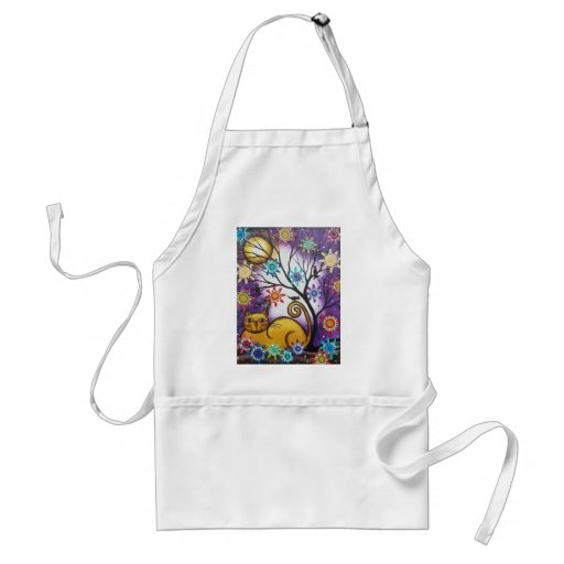 By Lori Everett_ Day Of The Dead_Mexican_Cat Adult Apron