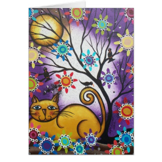 By Lori Everett_ Day Of The Dead_Mexican_Cat Greeting Card