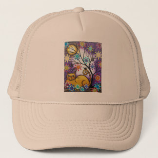 By Lori Everett_ Day Of The Dead_Mexican_Cat Trucker Hat