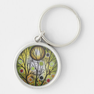 By Lori Everett_ Day Of The Dead,Mexican,DOD Silver-Colored Round Keychain