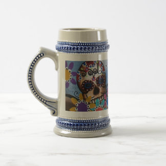 By Lori Everett_ Day Of The Dead,Mexican,Skull,DOD Beer Stein