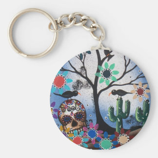 By Lori Everett_ Day Of The Dead,Mexican,Skull,DOD Keychain