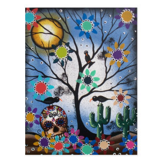 By Lori Everett_ Day Of The Dead,Mexican,Skull,DOD Postcard
