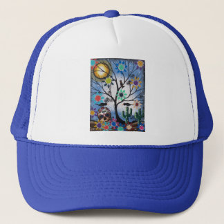 By Lori Everett_ Day Of The Dead,Mexican,Skull,DOD Trucker Hat