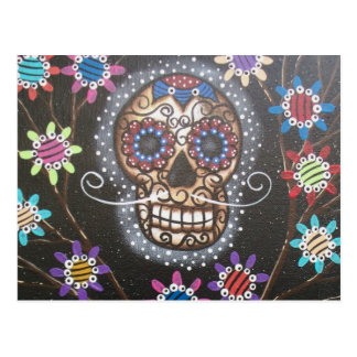 By Lori Everett_ Day Of The Dead, Mexican, Skull Postcard