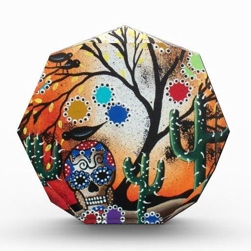 By Lori Everett_ Day Of The Dead,Skull,Mexican,DOD Acrylic Award