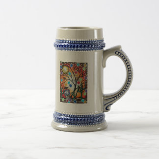 By Lori Everett_ Day Of The Dead,Skull,Mexican,DOD Beer Stein