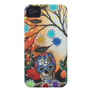 By Lori Everett_ Day Of The Dead,Skull,Mexican,DOD iPhone 4 Case-Mate Cases
