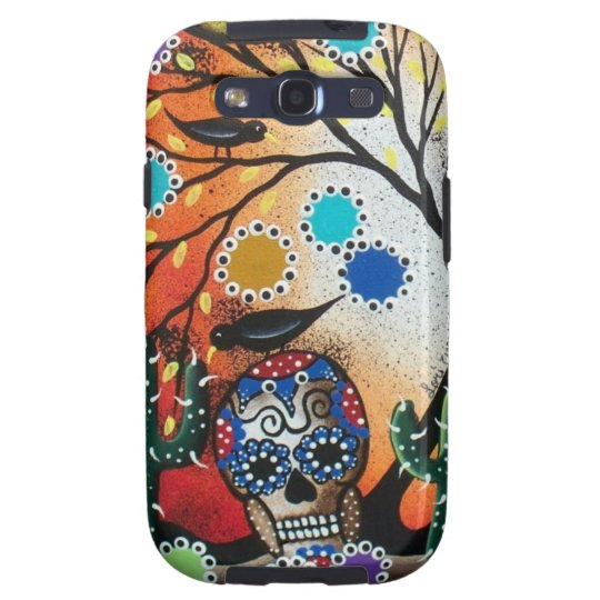 By Lori Everett_ Day Of The Dead,Skull,Mexican,DOD Galaxy SIII Cover