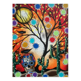 By Lori Everett_ Day Of The Dead,Skull,Mexican,DOD Postcard