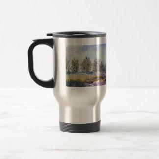 By meadow by Alfred Sisley Coffee Mug