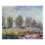 By meadow by Alfred Sisley Posters