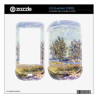 By meadow by Alfred Sisley Skin For LG Quantum