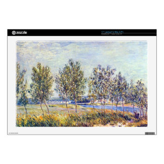 """By meadow by Alfred Sisley Skin For 17"""" Laptop"""