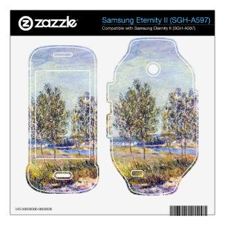 By meadow by Alfred Sisley Samsung Eternity II Decal