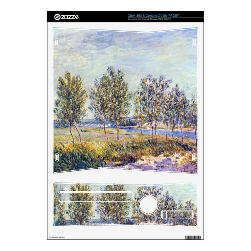 By meadow by Alfred Sisley Xbox 360 S Skins