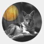 By Moonlight Round Sticker